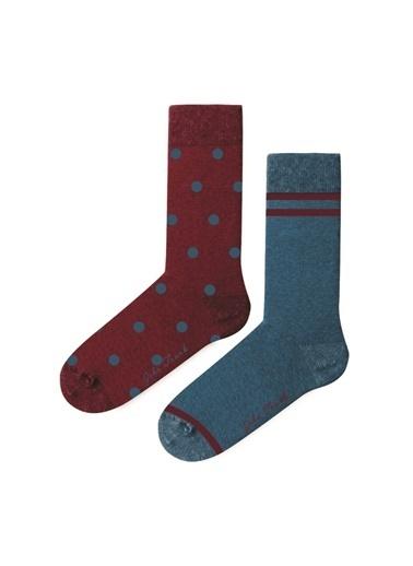 John Frank John Frank WJF2LS19-25 Çok Renkli Desenli Kadın Çorap Renkli